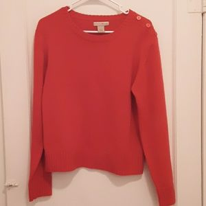 [Mountain Lake] Red Sweater with Shoulder Buttons